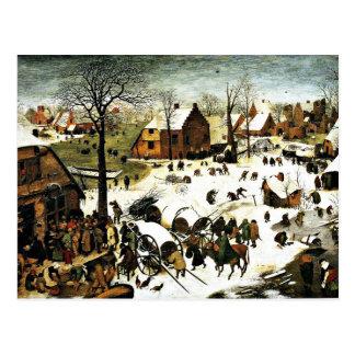 Census at Bethlehem-1566, Pieter the Elder Postcard