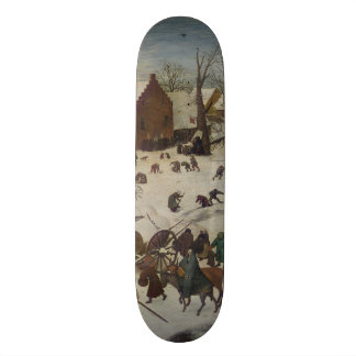 Census at Bethlehem by Pieter Bruegel 20.6 Cm Skateboard Deck