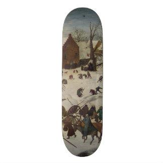 Census at Bethlehem by Pieter Bruegel 20.6 Cm Skateboard Deck