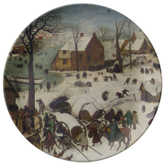 Census at Bethlehem by Pieter Bruegel Porcelain Plates