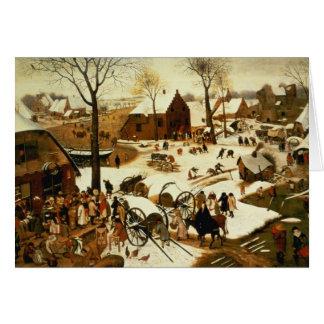 Census at Bethlehem, c.1566 Card