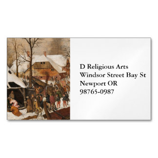 Census in Bethlehem Magnetic Business Cards