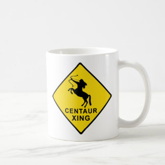 Centaur Crossing - sign Coffee Mug