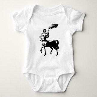 Centaur holding torch baby bodysuit