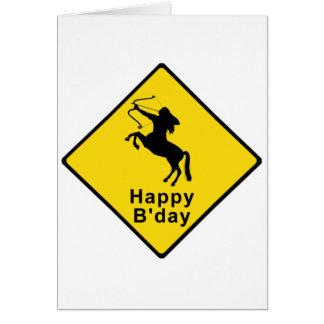 Centaur Xing - sign Card