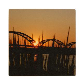 Centennial Bridge Davenport Iowa Wooden Coaster