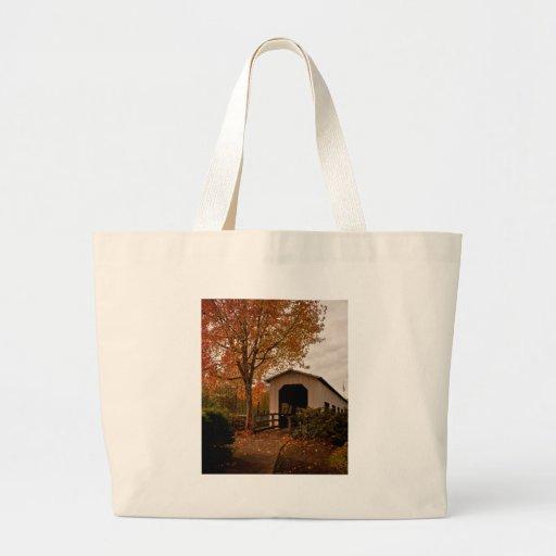 Centennial Covered Bridge, Oregon Canvas Bag
