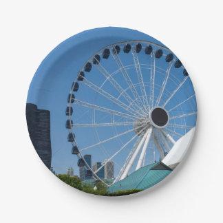 Centennial Ferris Wheel Paper Plate