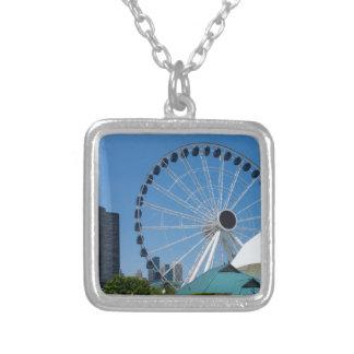 Centennial Ferris Wheel Silver Plated Necklace