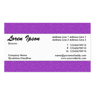 Center Band 012 - Purple Embossed Texture Pack Of Standard Business Cards