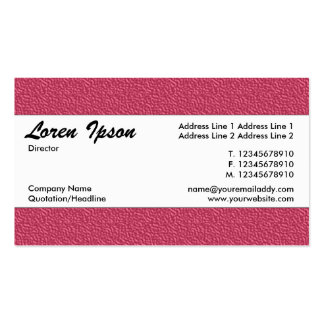 Center Band 015 - Red Embossed Texture Pack Of Standard Business Cards