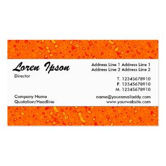 Center Band 01 - Orange Marmalade Sea Business Card Template