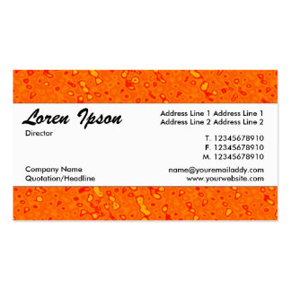 Center Band 01 - Orange Marmalade Sea Pack Of Standard Business Cards