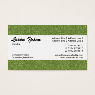 Center Band 021 - Green Embossed Texture Business Card