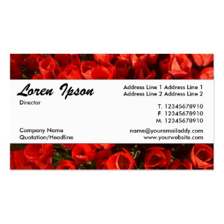 Center Band 034 - Tulips Double-Sided Standard Business Cards (Pack Of 100)