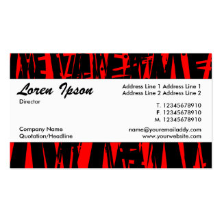 Center Band 039 - Abstract Red and Black Business Card