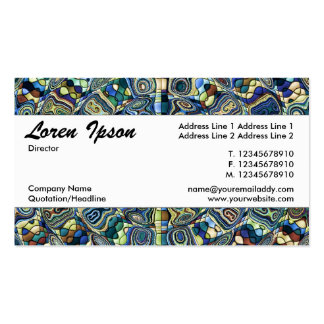 Center Band 040 - Blue Ripples Pack Of Standard Business Cards