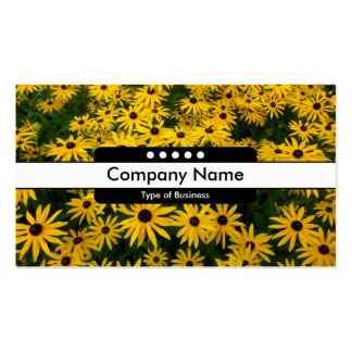 Center Band 5 Spots - Black-eyed Susans Business Card Templates