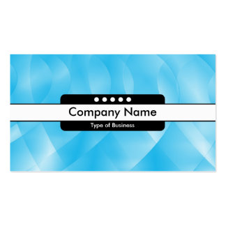 Center Band 5 Spots - Blue Curves Business Cards