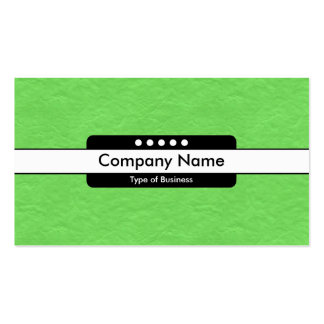 Center Band 5 Spots - Bright Green Paper Texture Pack Of Standard Business Cards