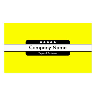 Center Band 5 Spots - Bright Yellow Pack Of Standard Business Cards