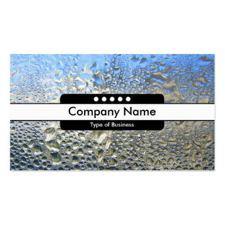 Center Band 5 Spots - Cool Water II Business Card Template