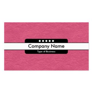 Center Band 5 Spots - Crimson Paper Texture Pack Of Standard Business Cards