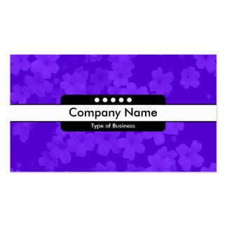 Center Band 5 Spots - Flowers - Violet Blue Pack Of Standard Business Cards