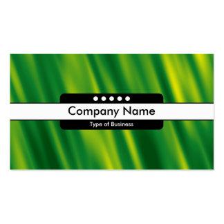 Center Band 5 Spots - Green Cascade Business Cards
