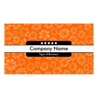 Center Band 5 Spots - Orange Floral Pack Of Standard Business Cards