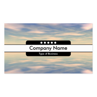 Center Band 5 Spots - Reflections II Business Card Templates
