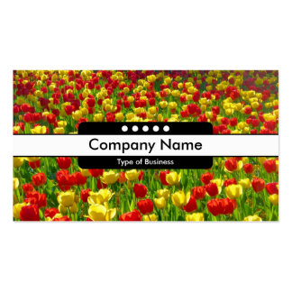 Center Band 5 Spots - Sea of Tulips Business Card