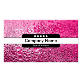 Center Band 5 Spots - Steamy Pink Business Card Templates