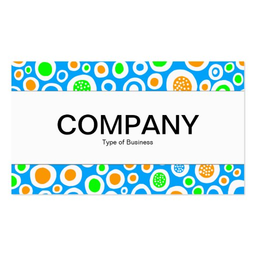 Center Band  - Abstract 030413 Business Card Template