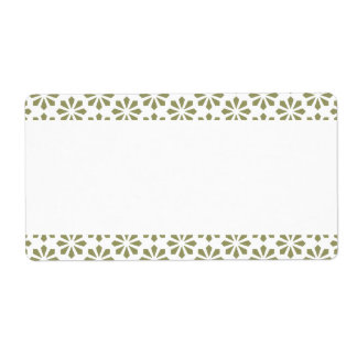 Center Band - Art Deco Pattern Shipping Label