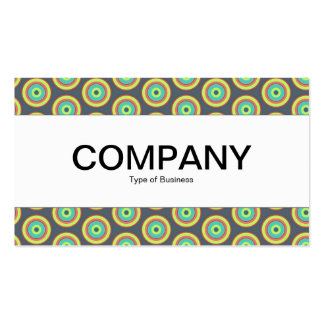 Center Band  - Colorful Circles 04 Business Card
