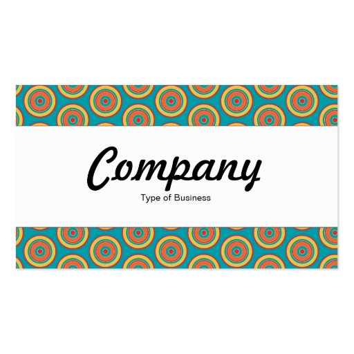 Center Band  - Colorful Circles 05 Business Card Templates