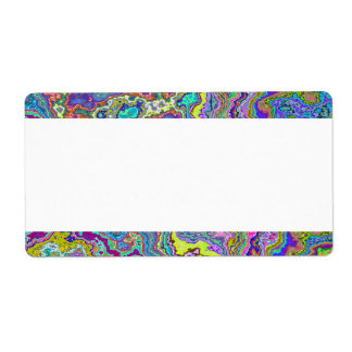 Center Band - Colorful Marble Shipping Label