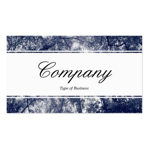 Center Band (edged) - Blue Autumn Business Card Template