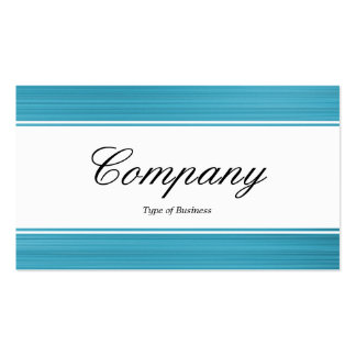 Center Band (edged) - Script - Brushed Pale Blue Business Cards