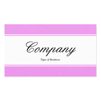Center Band edged - Script - Lilac Painted Canva Business Cards