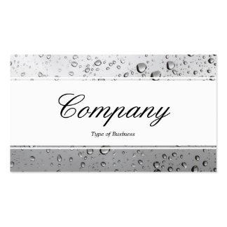 Center Band edged - Script - Rain Window Business Card Template