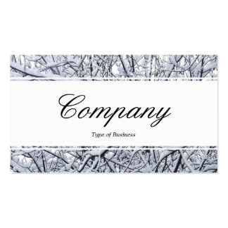 Center Band edged - Script - Snowy Branches Business Card Template