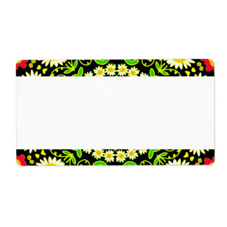 Center Band - Floral Kaleidoscope Shipping Label