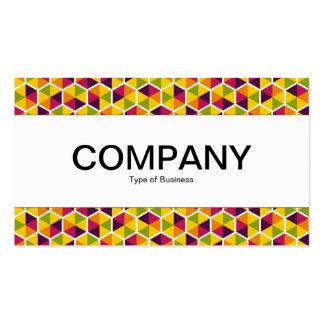 Center Band  - Hexagon Pattern 01 Pack Of Standard Business Cards