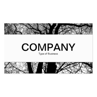Center Band - High Contrast Tree Business Card Template