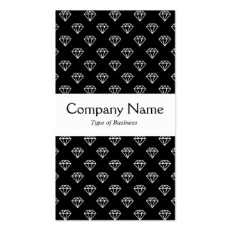 Center Band - Jewels - White on Black Double-Sided Standard Business Cards (Pack Of 100)
