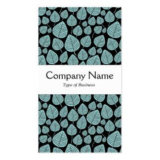 Center Band - Leaves - Lt Blue Green on Black Pack Of Standard Business Cards
