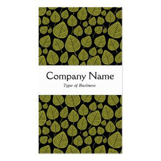 Center Band - Leaves - Olive on Black Pack Of Standard Business Cards