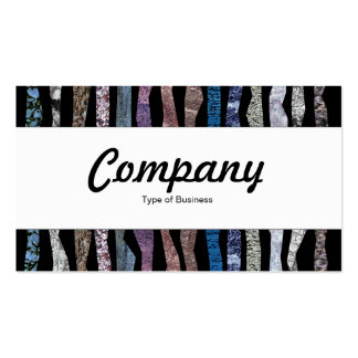 Center Band - Mineral Stripes Business Cards